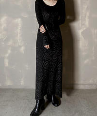 【USED】 Velour Patterned Dress / 201125-009