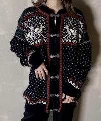 【USED】 Nordic Knit Cardigan / 201120-030