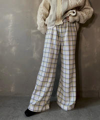 【USED】 Check Flared Pants ① / 201112-023