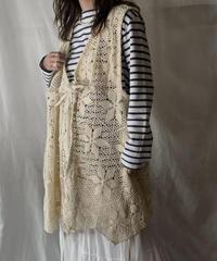 【RE;CIRCLE】  RE Crochet Long Vest /210512-004
