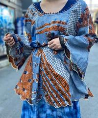 【Used】African Batik Tops 5  /200531-064
