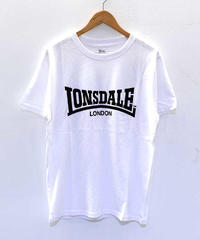 LONSDALE FLOCKY PRINT T-SHIRT(01 OFFWHITE)