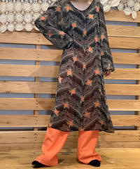 【Used】L/S See-through Flower One Piece / 200901-078