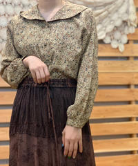 【Used】L/S Flower Blouse / 200901-043