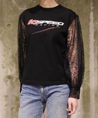 [FURUGI-NI-LACE] Lace Sleeve T-shirt (6)
