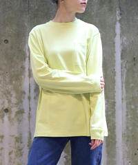 [Goodwear] Long sleeve T-shirt (Yellow)
