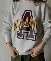 【USED】 90's USA  Champion Reverse Weave Sweat ALVERNIA / 210127-009