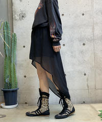 【Used】  See-Through Fishtail skirt / 200911-006