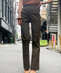 【Used】Check Flare Pants / 200901-025