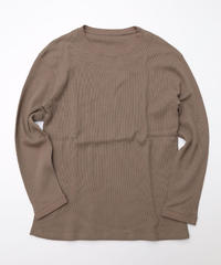 [着もちいい服] Thermal Long Sleeve T-shirt (Khaki)
