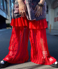 【Used】See-Through  Pleats Easy Pants