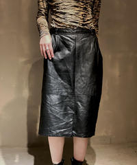【USED】Leather Skirt / 201104-015