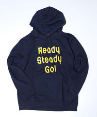 [READY STEADY GO]  Logo Hoody (Navy/Yellow)
