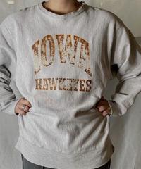 【USED】 80's USA Champion Reverse Weave Sweat IOWA / 210127-057