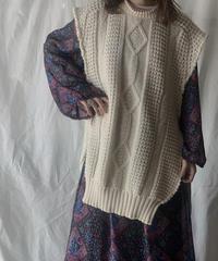 【RE;CIRCLE】 Patchwork Knit Vest ④ / 201112-017