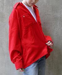 [USED] Corduroy Shirt (Red3)
