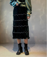 【RE;CIRCLE】Mellow Velor Skirt 2 / 201103-008