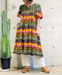 【Used】African Batik One Piece /200725-019