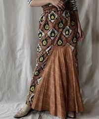 【USED】 African Batik Skirt①/210428-002