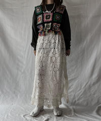 【RE;CIRCLE】 RE Granny × Crochet N/S One-piece①/211014-010