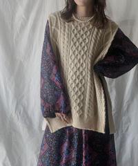 【RE;CIRCLE】 Patchwork Knit Vest ⑤ /210210-004