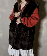 【USED】 Liner Fake Fur Vest / 201204-015
