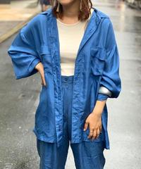 【Used】L/S Silk Shirts  BLU