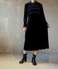 【RE;CIRCLE】L/S Mellow Velor Dress 2 / 201103-004