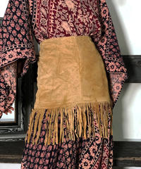 【Used】Suede Fringe Mini skirt/ 201006-008