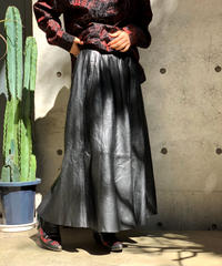【Used】Leather Long skirt/ 201001-024