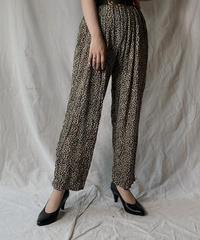 【USED】 Leopard Patterned Easy Pants/210421-038
