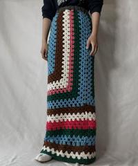 【RE;CIRCLE】 RE Granny Knit Long Skirt⑨/211014-029