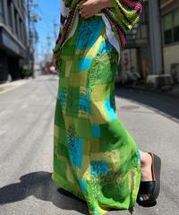 【Used】Pattern Long Skirt  /200531-047