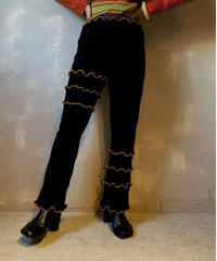 【RE;CIRCLE】Mellow Velor Lace Pants  / 201103-014