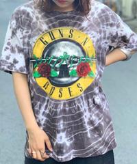 【Used】Tie Dye GUN'S  Rock  T-Shirt