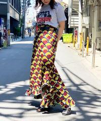 【Used】African Batik Long Skirt 1