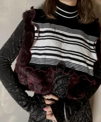 【RE;CIRCLE】L/S Mellow Rib Knit Square Collar ②