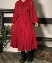 【Used】 See-Though Dot One-Piece  /201008-15