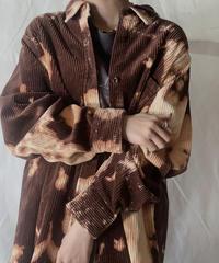 【RE;CIRCLE】Tie Dye Dyeing Corduroy shirt① /210226-005