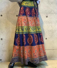 【Used】African  Rolled Skirt /200915-021