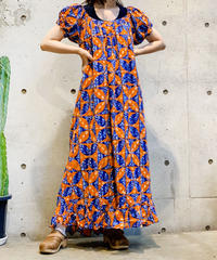 【Used】African Batik One Piece /200725-020