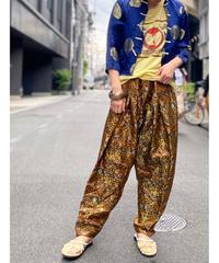 【Used】Satin Flower Pattern Pants