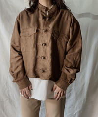 【USED】 Remake Fake Suede China Short Shirt②/210217-010
