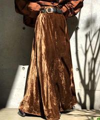 【Used】Velor Long skirt / 201001-026