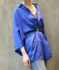 [USED] SILK SHIRT (BLUE 1)