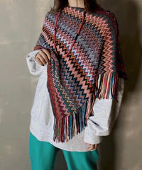 【USED】 Knit Poncho ② / 201120-009