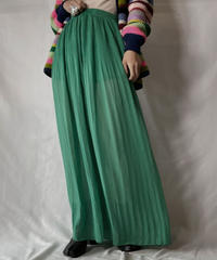 【USED】 Poly See-through Pleats Skirt/211014-056