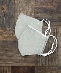 【Natural Dye】 New Silk Cotton × linen Organic Mask (Dark Mint)  (2枚セット)