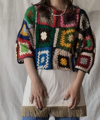 【RE;CIRCLE】 RE Granny Knit Top⑤/210421-012