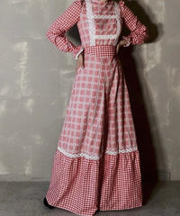 【USED】 L/S Gingham Check Dress / 201120-002